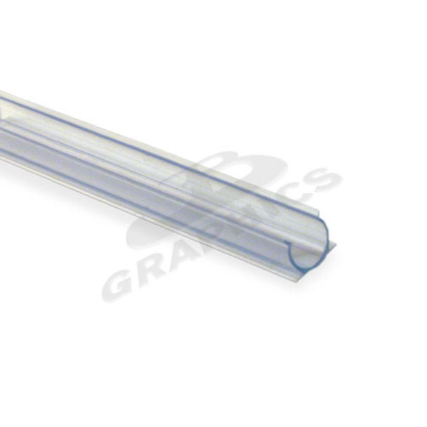 "3/8""  4' CLEAR PVC MOUNTING TRACK FOR CROWN ROPE LIGHT - 10/PCS"