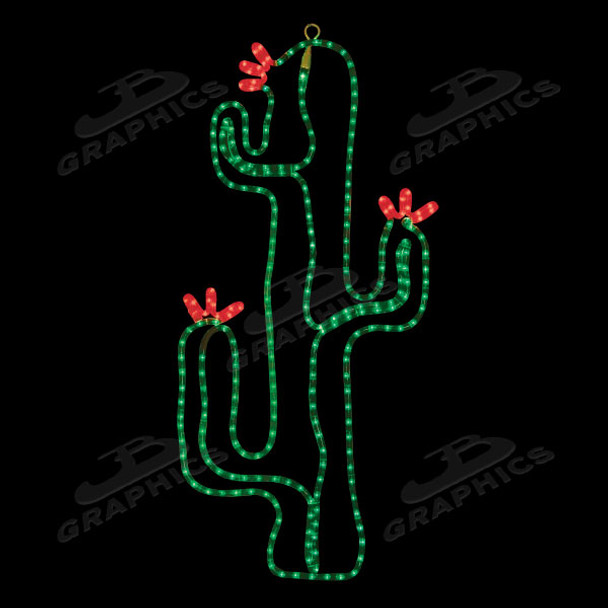"""LED18"""" x 36"""" CACTUS IN BLOOM - 102MOL715"""
