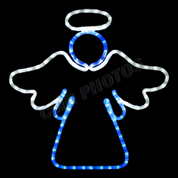"""20"""" x 20"""" TWO COLOR LED STANDING WINDOW ANGEL - 100MOLANGEL1"""