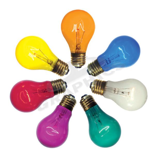 25 Watt A19 Transparent Midway Brand (25A19) Party Bulbs