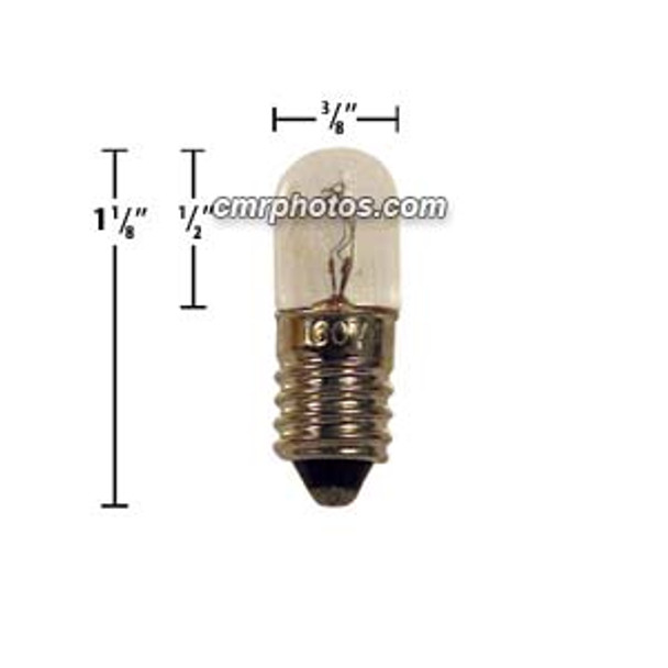 60V T3 Mini Cabochon Turbo Replacement Midway Bulbs - PACK(100 bulbs) - 203BT360V