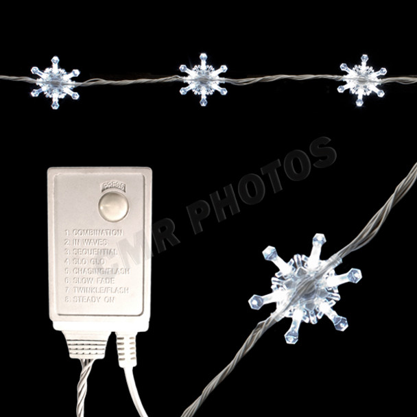 20ft Snowflake String with Controller