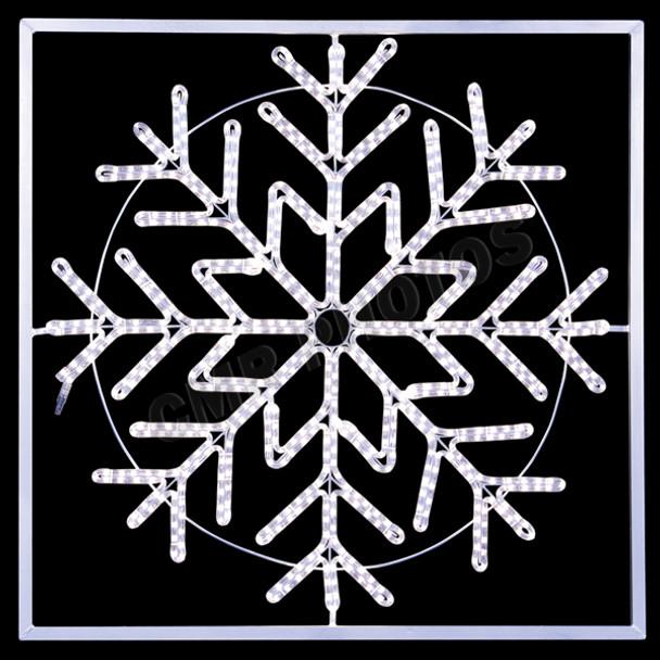 "48"" LED SnowFlake w/ Frame"