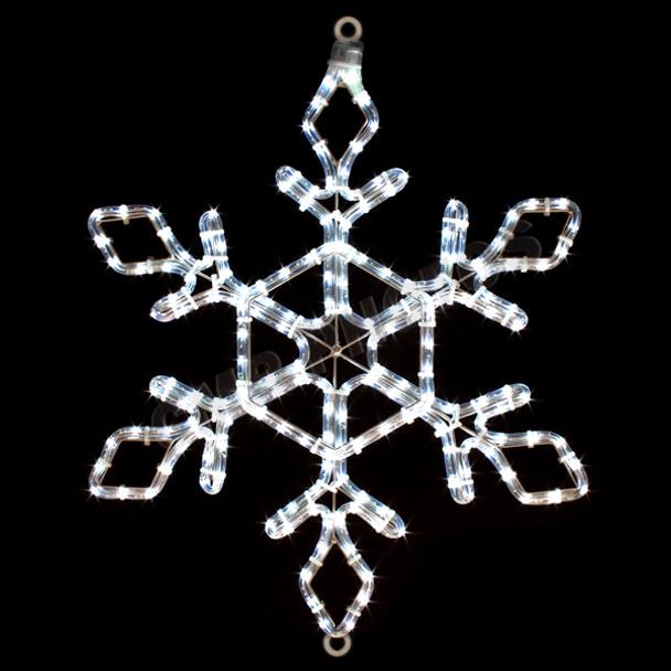 "22"" LED SNOWFLAKE ROPE LIGHT MOTIF SILHOUETTE DISPLAY - 100MOLS44"