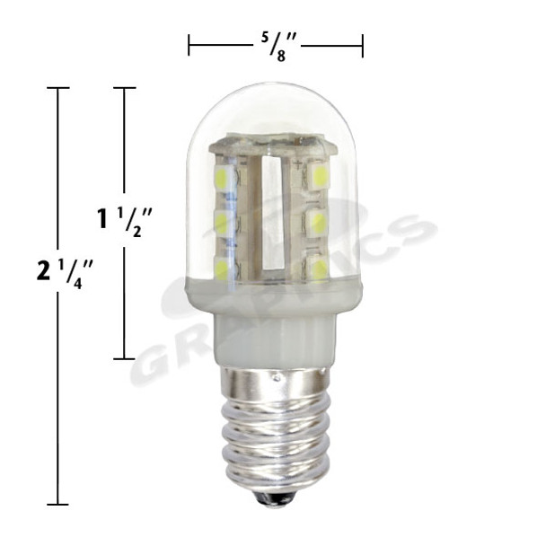 16 SMD LED T5 E14 TURBO REPLACEMENT MIDWAY BRAND - PACK(25 bulbs) - 227T5SMD16/W