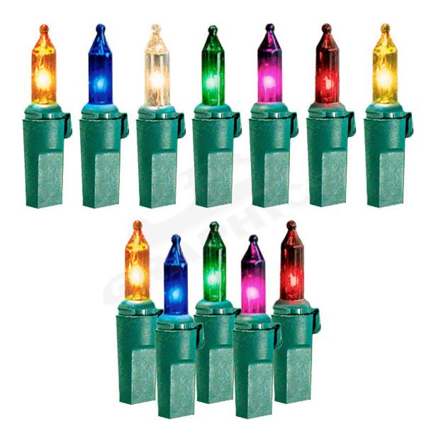 100 Lamp Incandescent Mini Light Set - Color Options