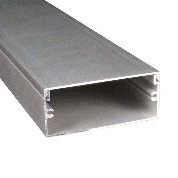 "1 3/4"" x 3"" Clear Anodized Aluminum Channel - complete"