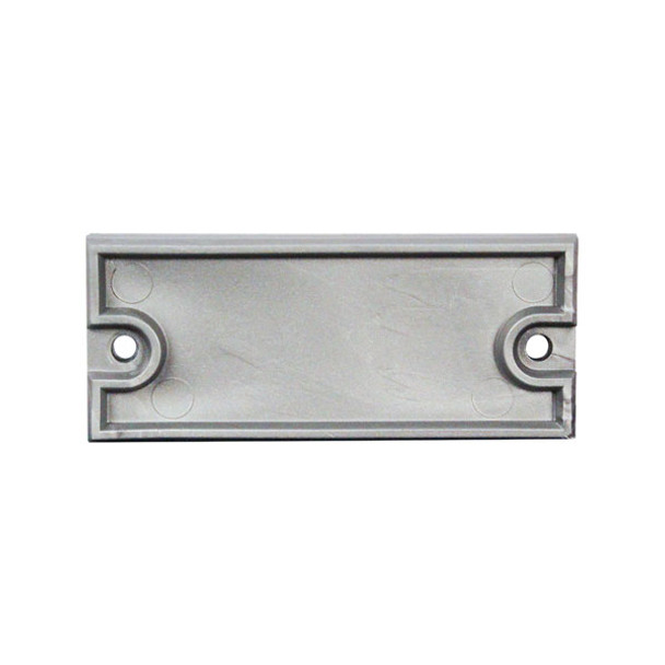 """Silver End Caps for 1 3/4"""" x 3"""" Clear Anodized Aluminum Channel"""