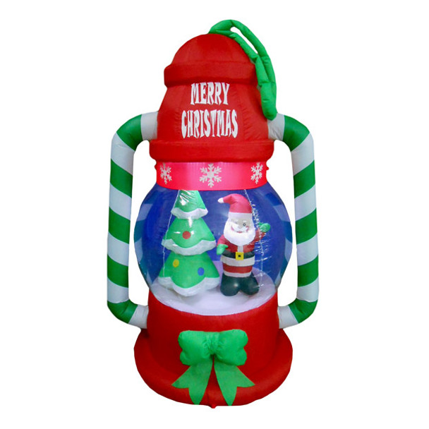 Christmas Tree Inflatable.6ft Lantern With Santa And Tree Inflatable Yard Decoration 100ci702
