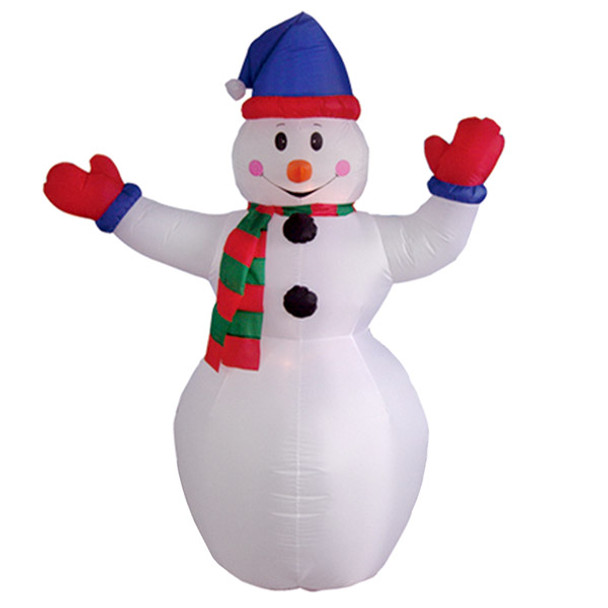 6ft Snowman with Red Gloves Inflatable