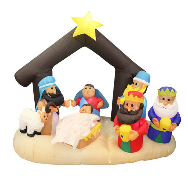 7ft Tall Nativity Scene Inflatable