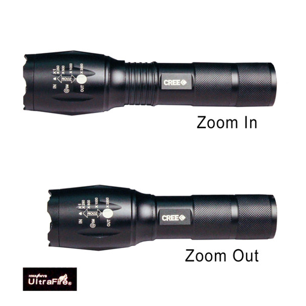 UltraFire Mini FlashLight  - Zoom in / Zoom Out View