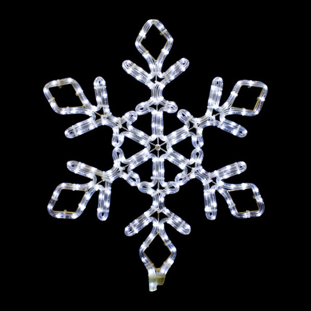 "12"" LED SNOWFLAKE ROPE LIGHT MOTIF SILHOUETTE DISPLAY - 100MOLS704"
