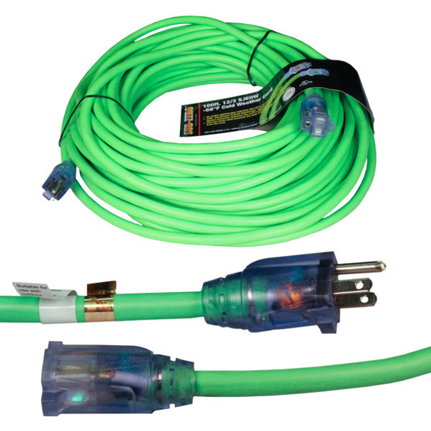 Heavy Dusty Extension Cord - 100ft Shown