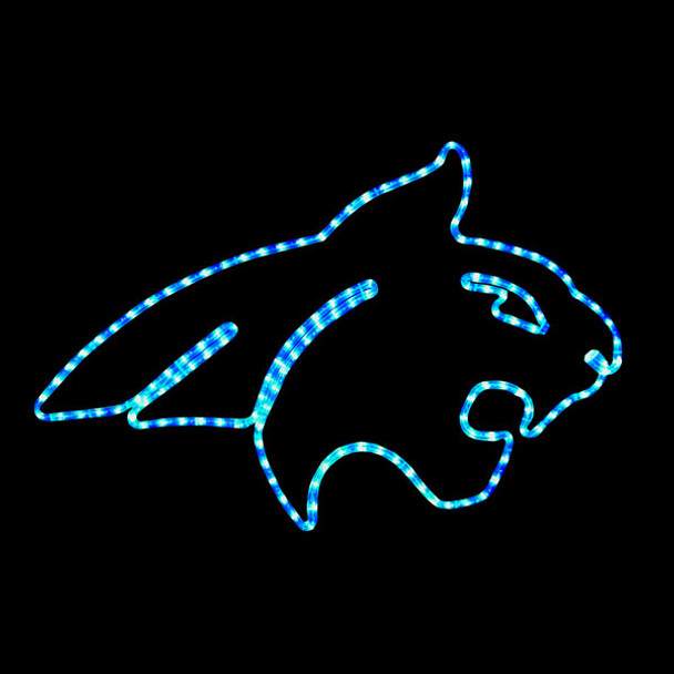 Montana State University Bob Cat Rope Light Motif