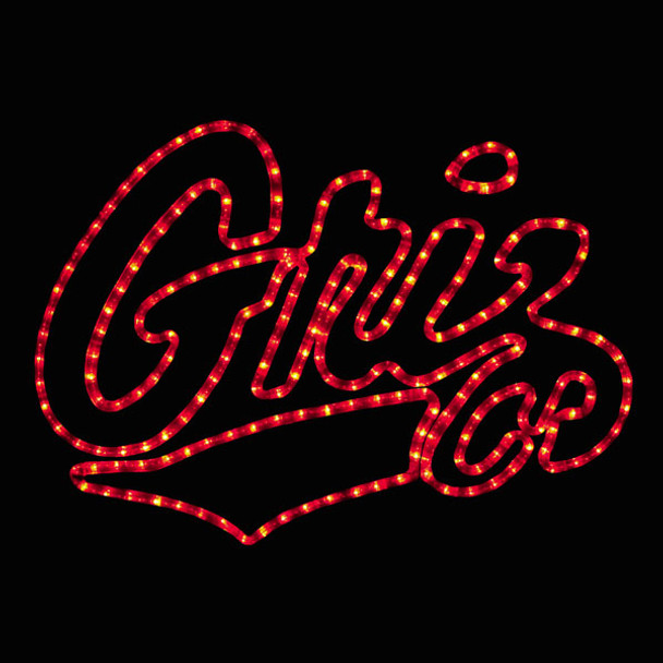 University of Montana Griz Rope Light Motif