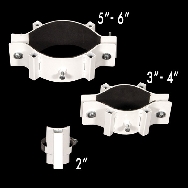 """Tent Pole Lighting Clamps - 2"""" - 3-4"""", and 5-6"""""""