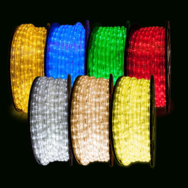 LED Rope Light - 150ft Rolls - Color PVC and Color LED's