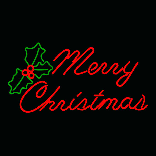 LED Neon Merry Christmas Sign