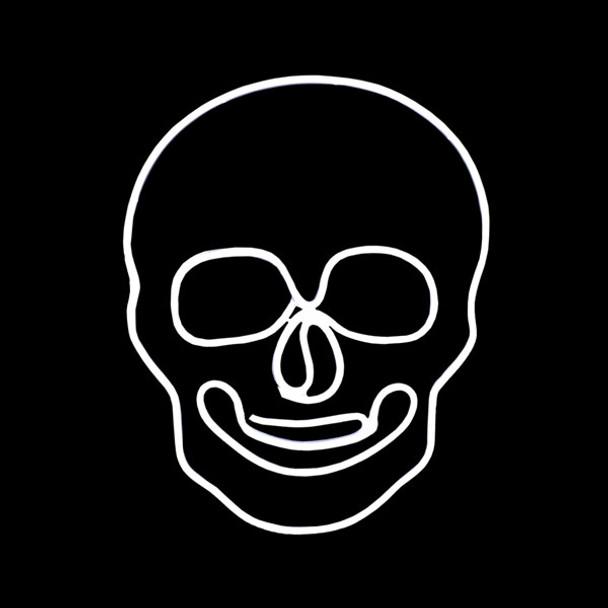 White LED Neon Halloween Skull