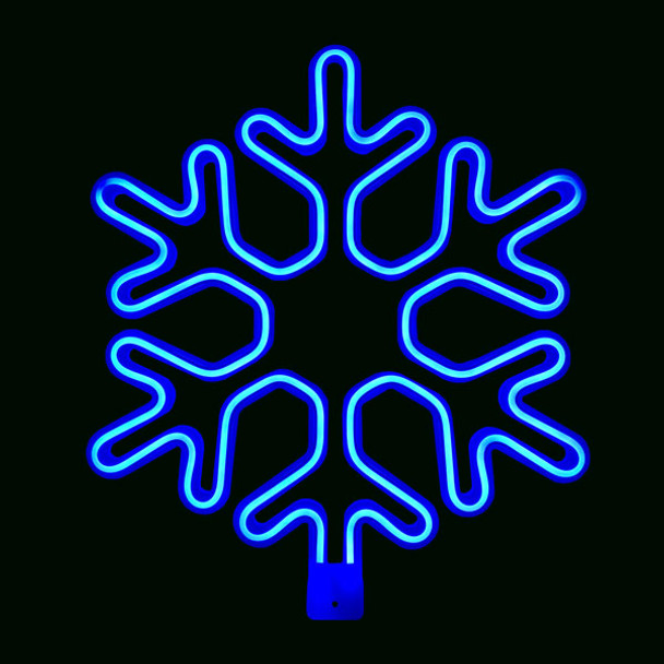 LED Neon blue Snowflake