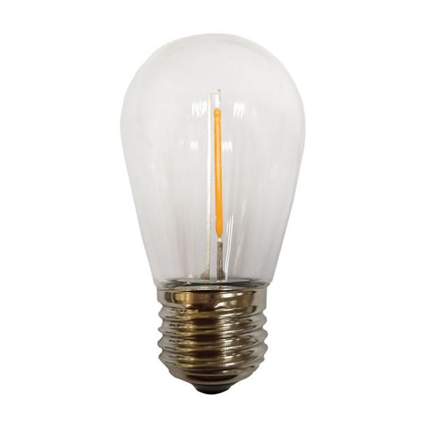 Single Filament Impact Resistant S14 Patio / Bistro Bulb