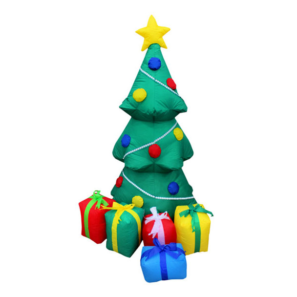 4ft Decorated Inflatable Tree with Presents