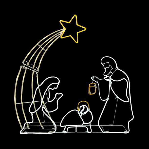 3ft Rope Light Nativity Scene
