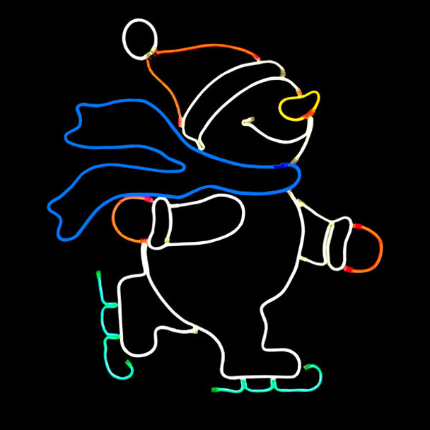 Skating Snowman / Neon Rope Light
