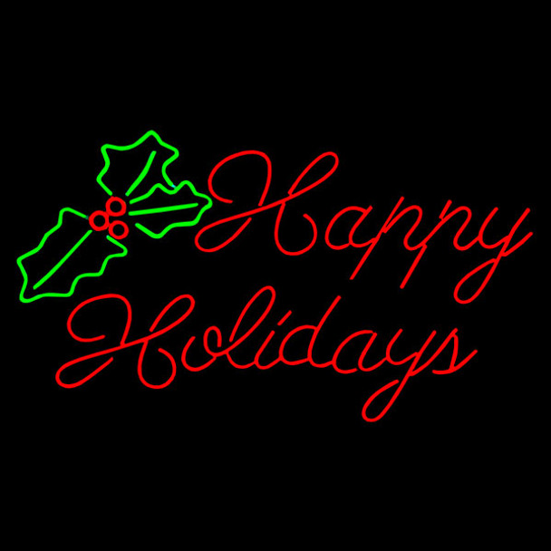 LED Neon Happy Holidays Sign