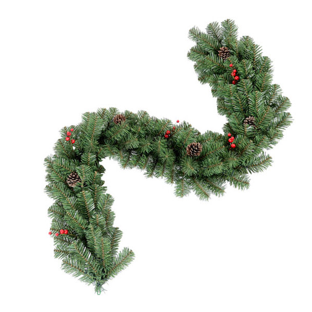 9ft Decorated Garland