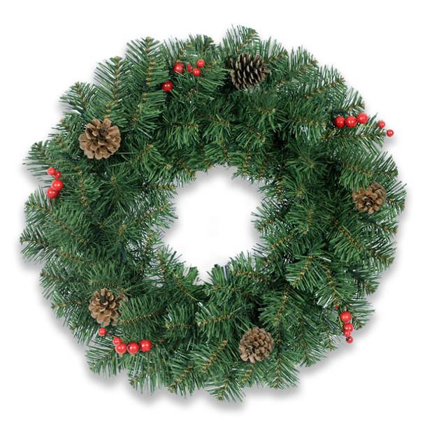 Decorated PVC Christmas Wreath