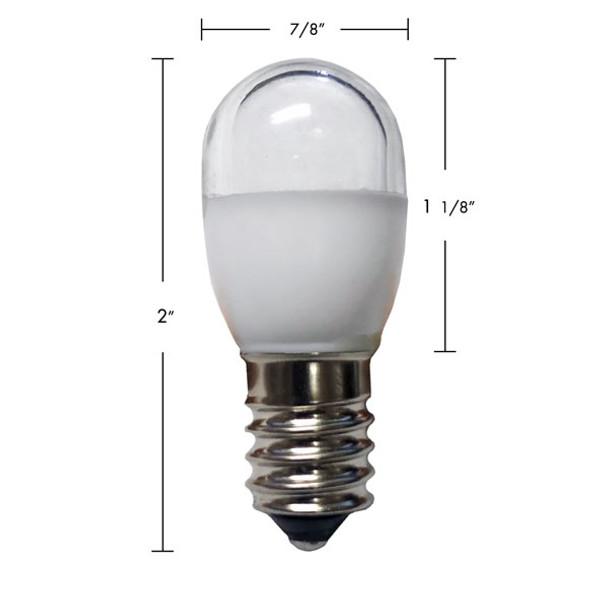 E14 Auto RGB SMD Retro-Fit Bulb with Dimensions