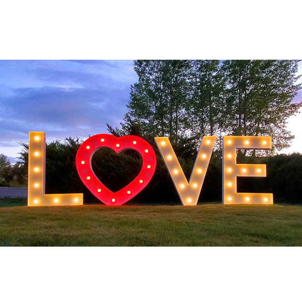"""48"""" LOVE Marquee Wedding Letters"""