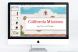 Use this PowerPoint presentation template for your California Missions project!
