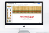 Make your Ancient Egypt project using this powerpoint template!