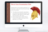 Ancient Greece PowerPoint template page layout (also compatible with Apple Keynote and Google Slides)