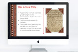 Create striking page layouts for your deck! Ancient Greek powerpoint template.