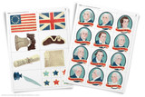 Printable clip art for American Revolution project.