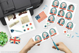 Download and print clip art of famous people and icons of the American Revolutionary War.