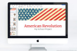 Use this Powerpoint template your American Revolution project.