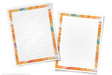 Printable writing templates for Book Reports and Reading Fairs. Cute book border.