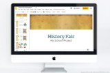 Downloadable PowerPoint (Keynote, Google Slides) old paper themed for history reports. Perfect for National History Day, and History Fair presentations.