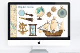 Clip art for your Age of Exploration powerpoint report! Including; Magnifying Glass, Spyglass (Telescope), Wooden Ship (a Portuguese Caravel), Compass, Hourglass, Globe, Sextant Navigational Tool, and Compass Rose Icons