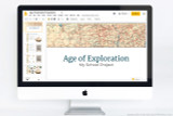 Powerpoint template for a report on the Age of Exploration.