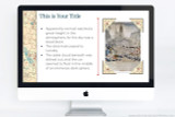 Easily customize your report with your words and pictures, and tie it all together with the Age of Exploration theme.