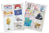 Printable clip art of Utah state symbols.