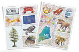 Printable clip art of Maine State symbols.