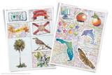 Printable clip art of Florida State symbols.