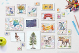 State symbols of Alaska clip art, including state flower, state tree, state flag, map, economic exports, license plate, motto, nickname, and more!